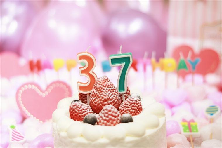 37歳の誕生日バースデーケーキ